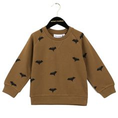 Sweatshirt Bats AOP Brown