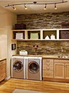 Nice laundry space for home