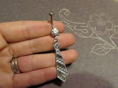 50 Shades of Grey Belly Ring by apieceofyou on Etsy, $14.00