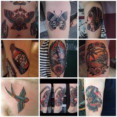Tattoos by Marcos Ortega done @ Bläckfisk Tattoo Co.