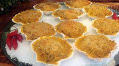 INGREDIENTES PARA CASQUINHA DE SIRI1kg de carne de siri congelada1 cebola processada4 colheres (sopa) de azeite2 tomates sem pele e sem sementes picados1...