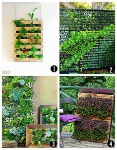 On the balcony, use pallets!
