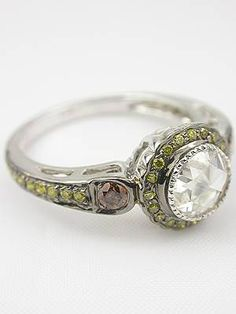 Modern rose cut diamond ring