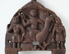 Catawiki online auction house: Karttikeya Kavadi wood panel - India - 19th century