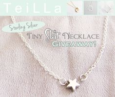 Fabulous Fashions 4 Sensible Style: GIVEAWAY: STERLING SILVER TINY STAR NECKLACE FROM TEILLA ETSY SHOP