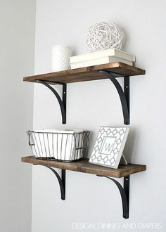 So today, I'm revealing our new Rustic DIY Bathroom Shelving.