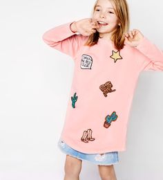 Image 1 of Patch dress from Zara