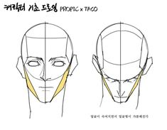 The muscles hugging the side of the face narrow when the head looks downward. Reference Manga, Body Reference Drawing, Body Drawing, Anatomy Drawing, Anatomy Art, Anatomy Reference, Art Reference Poses, Figure Drawing, Drawing Lessons