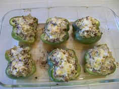 Eggface Bariatric Recipes: Philly Cheesesteak Stuffed Peppers