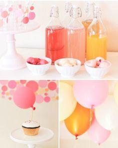 Fiesta de cumpleaños Confeti : De temática Confeti, ambientada en tonos rosados y amarillos, este bonito cumpleaños nos aporta ideas sencillas y resultonas, una decoración que fácilmente