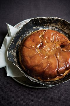 Preheat the oven to 350°F. Melt the butter and sugar in a 12-inch cast-iron pan. …