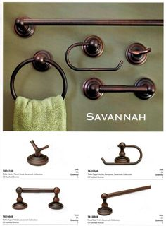 Harney Hardware Savannah bath hardware collection