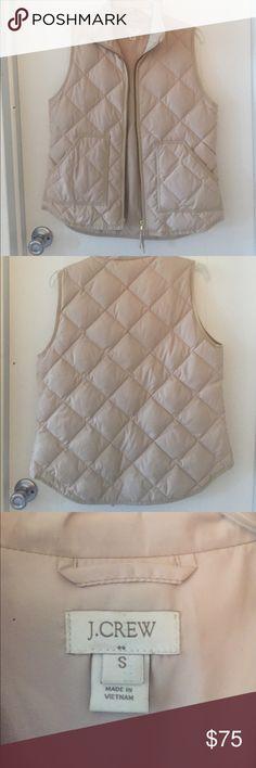 JCrew Cream Puffer Vest Barely worn cream vest from JCrew. J. Crew Jackets & Coats Vests