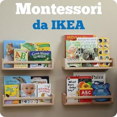 Ikea hacking is THE trend in customization. Impossible to miss, Ikea hacks are everywhere! Ikea Montessori, Montessori Bedroom, Montessori Activities, Spice Rack Bookshelves, Book Shelves, Ikea Bekvam, Wooden Spice Rack, Baby Kind, Kids And Parenting
