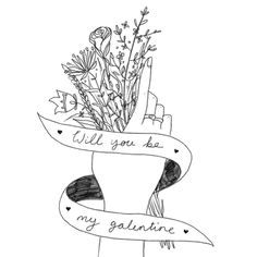 Will you be my galentine?  I'm so lucky to know so many strong creative and talented ladies please check them out and follow! Who are your favourite creative ladies that you follow? #illustration #illustrate #art #drawing #draw #design #create #creative #lineart #pencil #handmade #handdrawn #floral #flowers #femaleillustrator #womenwhodraw #galentines #galentinesday #galentine #girls #love #friendship #support
