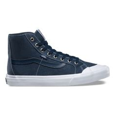 1869b6d563 Black Ball Hi SF 2SEC8R Washed dress blues  Vans Blue Vans