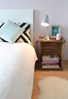 nightstand styling, modern