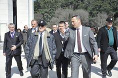 Başkanımız Fikret Orman ile Kongre Üyemiz Rahmi M. Koç'a gezi sırasında.