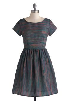 Beauty in the Air Dress in Dusk Stripes, #ModCloth