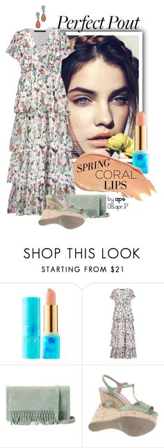"""""""SET #2236.  Spring Trends:Coral Lips & Floral Dress"""" by annasousa-1 ❤ liked on Polyvore featuring beauty, tarte, Lumene, W118 by Walter Baker, Liebeskind, L'Autre Chose and Anne Klein"""