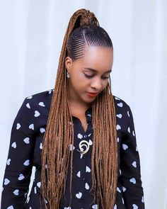 23 Most Beautiful Cornrow Braids That Turn Heads Braids Hairstyles Pictures, Braided Ponytail Hairstyles, Braided Hairstyles For Black Women, African Braids Hairstyles, Kid Hairstyles, Natural Hairstyles, Cornrow Braid Styles, African Braids Styles, Long Cornrows
