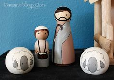 Ever since I painted my first peg doll family I have been pretty much in love with these cute little wooden people. I've painted s...