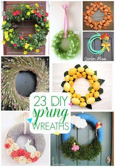 23 DIY Spring wreath ideas