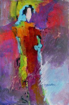 Standlee Fine Art: Acrylic Expressionist Ladies ~ .