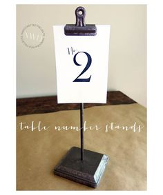 Handcrafted Projects: Table Number Stands