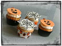 Cupcake Gallery - Kristen's Cake Creations - Halloween cupcakes with fondant toppers