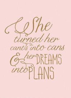 She Quote (blush&gold) print More
