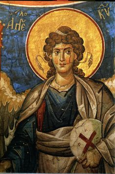 Byzantine Icons, Ikon, Fresco, Halo, Angels, Painting, Ancient Art, Traditional, Fresh