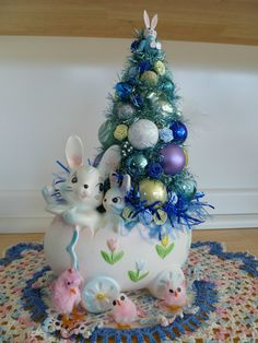Christmas Tree with an Easter theme