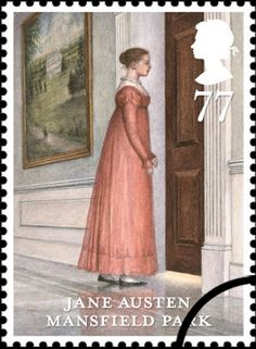 Jane Austen stamps in the UK commemorate 200th anniversary of Pride and Prejudice ~ Mansfield Park