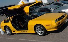 DeLorean Yellow - all DeLorean's was silver from the factory no paint Maserati, Bugatti, Lamborghini, Ferrari, Old Sports Cars, Exotic Sports Cars, Exotic Cars, Koenigsegg, Us Cars