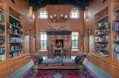 8 Main House - Library Electrical Projects, Home Libraries, Maine House, Living Area, Ranch, Yahoo Search, Mansions, House Styles, Image Search