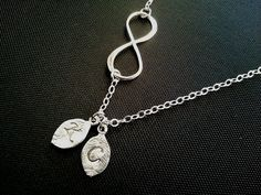 Infinity love PERSONALIZED INITIAL Pendant Necklace