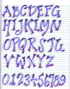 graffiti arm letter name alphabet Hand Lettering Alphabet, Doodle Lettering, Creative Lettering, Graffiti Lettering, Calligraphy Letters, Brush Lettering, Typography Fonts, Lettering Design, Doodle Alphabet