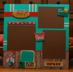 Bowling scrapbook page by A Page