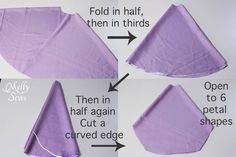 Steps 1-4 of Inspired by Princess Sofia the First Dress Tutorial - Melly Sews