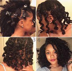Natural hair, braid out