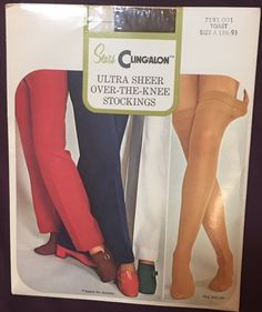 Vintage 1970s May Queen Nylons  Stockings  Panty Hose  Pantyhose Blushing Beige 1 Pair - Size B New in Envelope