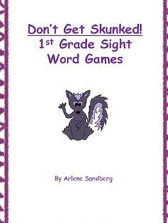 FREE 1st Grade Sight Words Don't Get Skunked