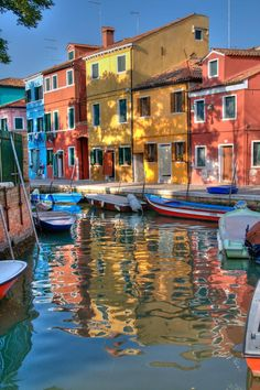 Burano, Italy. Look at those colors....awesome!!