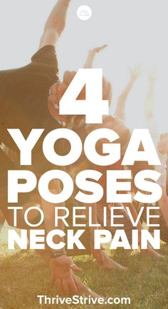 Experiencing neck pain? Here are 4 great yoga poses for beginners that you can do that will help relieve neck pain along with relaxing the muscles.