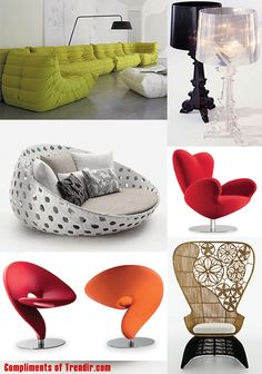 add some of these chairs around for a pop of color.