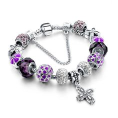 Szelam Crystal Beads Bracelets Bangles Snake Chain Charm Bracelets For Women Jewellery