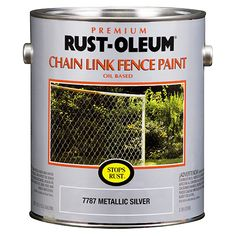Rusty, shabby fences of the world have met their match with Rust-Oleum® Stops Rust® Chain Link Fence Paint. A few brush strokes can rejuvenate an old metal fence, brighten up the neighborhood—and provide unmatched corrosion resistance.