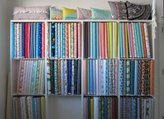 Shelves that fit fabric perfectly.
