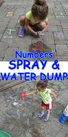 Numbers spray water dump nature s confetti threading leaves for toddlers preschoolers Outdoor Activities For Toddlers, Activities For 2 Year Olds, Outside Activities, Toddler Learning Activities, Infant Activities, Preschool Activities, Indoor Activities, Cognitive Activities, Space Activities